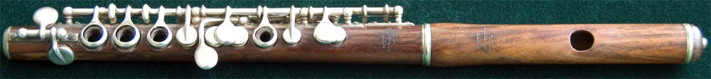 Early Musical Instruments, antique rosewood Piccolo by Louis Lot