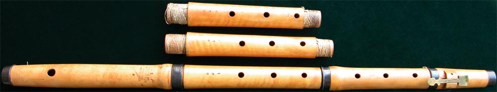 Early Musical Instruments, antique boxwood Flute by Steiner