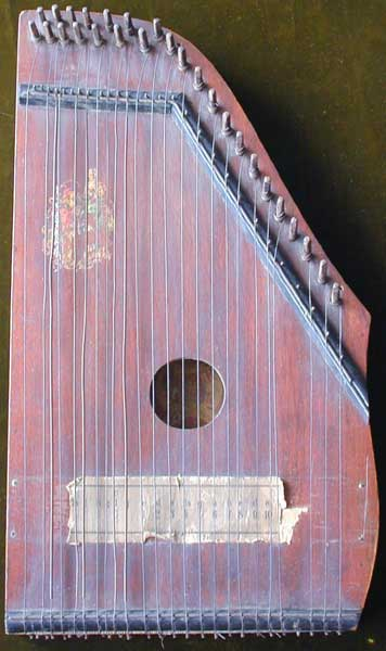 Early Musical Instruments, antique Terz Zither or Child's Cittern around 1900