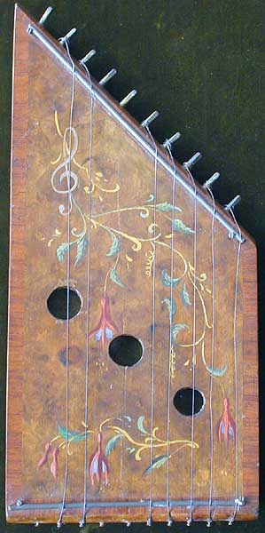 Early Musical Instruments, antique Kinder Zither or Child's Citternaround 1880
