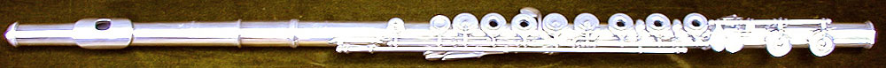 Early Musical Instruments, antique silver Flute by Bonneville