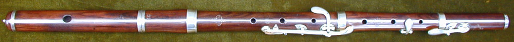 Early Musical Instruments, antique rosewood Flute by Claire Godfroy