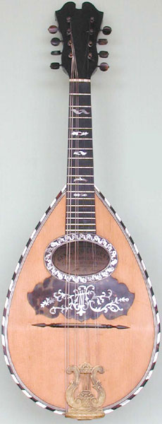 Early Musical Instruments, antique Mandolin by Gennaro Lingetti