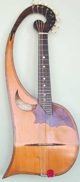 Early Musical Instruments, antique Mandolin by Federico Gardelli