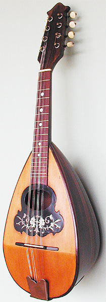 Early Musical Instruments, antique Mandolin by Carlo Loveri & Figlio
