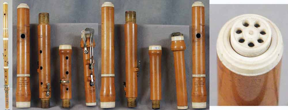 Early Musical Instruments, antique boxwood Flute by Richard Potter