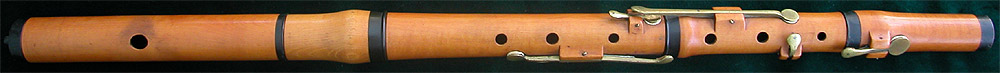 Early Musical Instruments, antique bone mounted boxwood Flute