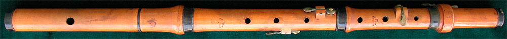 Early Musical Instruments, antique boxwood Flute by Eduard Piering