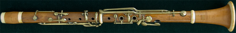 Early Musical Instruments, antique Clarinet by Carl Boose
