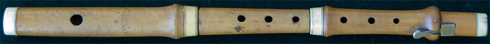 Early Musical Instruments, antique boxwood Piccolo by Clementi & Co.