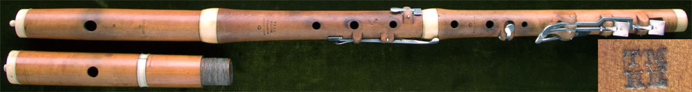 Early Musical Instruments, antique boxwood Flute by Monzani + Co.