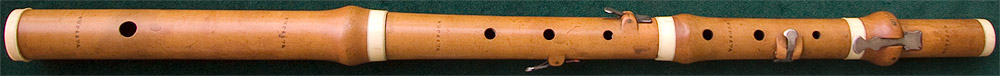 Early Musical Instruments, antique boxwood Flute by Wafford