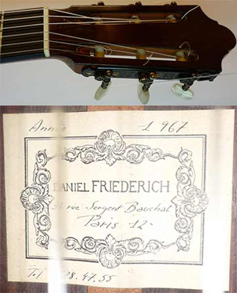 Early Musical Instruments, Custom Guitar by Daniel Friederich