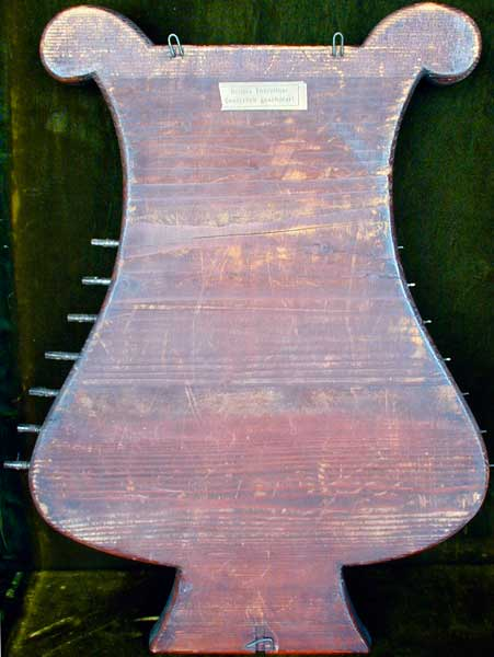 Early Musical Instruments, antique Oellers Thürzither, Neck CitternDoorbell Cittern by Oeller