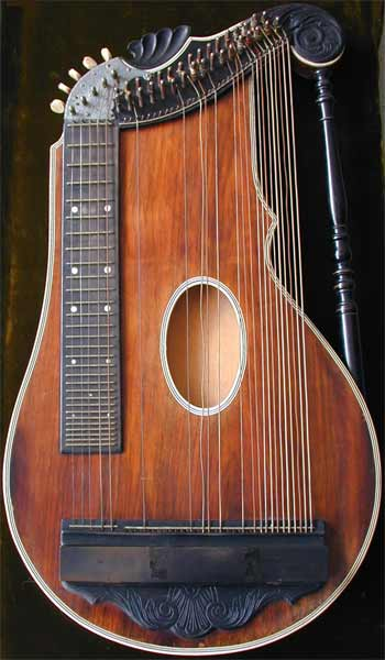 Early Musical Instruments, antique Reformzither, Reform Cittern by Anonymous