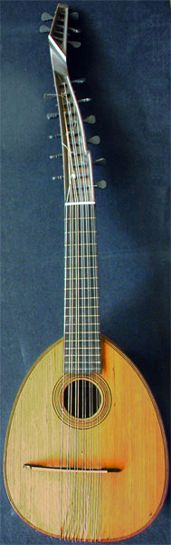 Early Musical Instruments, antique Theorbenzister, Arch Cittern by Anonymous
