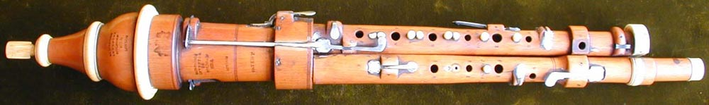 Early Musical Instruments, antique ivory mounted boxwood Flageolet by Simpson
