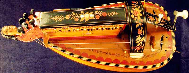 Early Musical Instruments, antique Hurdy Gurdy by Pajot