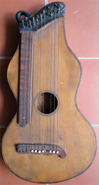 Early Musical Instruments, antique Zither or Cittern by Trümpi