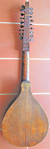 Early Musical Instruments, antique Halszither or Neck Cittern by Iohan Vlrich