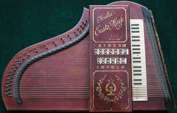 Early Musical Instruments, antique Müller's Erato-Harfe or Harp