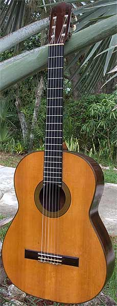 Early Musical Instruments, Classical Guitar by Conde Hermanos dated 1956