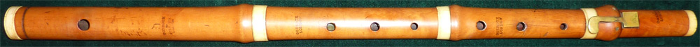 Early Musical Instruments, antique boxwood Flute by Gerock