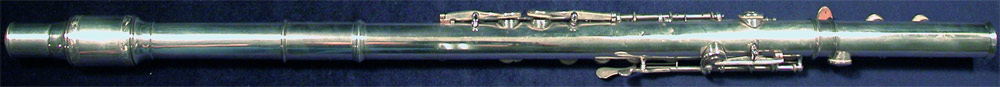 Early Musical Instruments, antique boxwood Flute by Rudall, Rose, Carte